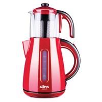 Stilevs Çays Cm-16 Çay Makinesi Kırmızı&Siyah