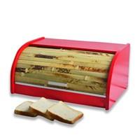 Cebay Home Kırmızı Bambu Storlu Ekmek Dolabı
