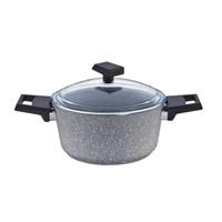 Falez Grey Granit Derin Tencere 24 Cm