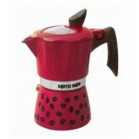 Gat Coffee Show Espresso Makinası 3 Kişilik Kırmızı