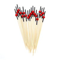 Dolco Gold Bambu Kırmızı Top Kürdan 12 Cm, 100 Ad/Paket