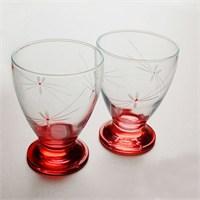 Başak 41011 Çın Çın 12 Adet (Kırmızı Ateş Böçeği) Su-Meşrubat Bardaği