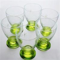 Başak 41011 Çın Çın 12 Adet (Yeşil Ateş Böçeği) Su-Meşrubat Bardaği