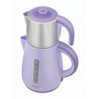 Arzum AR387 Akıllı Paslanmaz Çelik Demlikli Çay Makinesi Lila