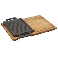 LavaHot Plate Ve Ahşap Altlığı, Dikdörtgen, 22X15cm.