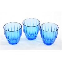 Paşabahçe Dıamond Mavi Su Bardak 3'Lü