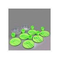 Pratik Piknik Seti 32 Parça ( 6 Kişilik) Yeşil
