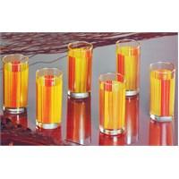 Lumınarc Carina Stripes -Orange 6.Lı Meşrubat Bardağı