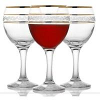 Lav Ayaklı Meşrubat Bardağı Yaldızlı 6'Lı Mıs549gy