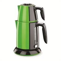 Korkmaz A 347-02 Tek Çay Elektrikli Çaydanlık Yeşil/Siyah