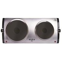 Arnica Duo 2500 W(1500+1000) İki Gözlü İnox Elektrikli Ocak