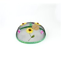 Kancaev Sineklik Yeşil Bordürlü Çiçekli Kelebekli Küçük