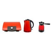 Vestel Yılbaşı Paket 1 (V-Brunch serisi 1000 Kırmızı Tost makinesi- V-Brunch serisi 2000 Inox Kırmızı Su Isıtıcı- V-Brunch 1000 Kırmızı Kahve makinesi)