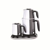 Korkmaz A 367-05 Çaykahve Makinesi Beyaz / Siyah