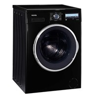 Vestel Hızlı 9812 TSE A+++ 9 Kg 1200 Devir Siyah Çamaşır Makinesi