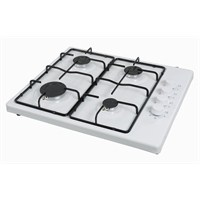 Luxell LX-420 F Beyaz 4 Gözü Gazlı Set Üstü Düğmeden Çakmaklı Ocak-Doğalgaz