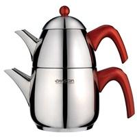 Emsan Kahre Çaydanlık Takımı - Kırmızı