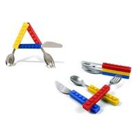 Buffer Lego Tasarımlı Çatal Bıçak Kaşık Takımı