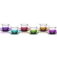 Lav Renkli Çay-Kahve Seti12'Li Lız Pg18S1