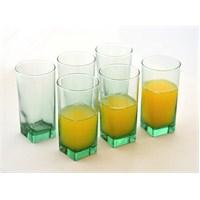 Paşabahçe Carre Yeşil Viski Bardağı 6'Lı