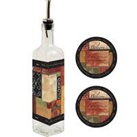 Dekoratifparça Desen Yağdanlık Tabak Set