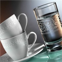 Kütahya Porselen Açelya 6 Kişilik Kahve Fincan Takımı