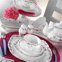 Kütahya Porselen Kare Bone 44 Parça 50100 Desen Kahvaltı Takımı