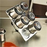 Kütahya Porselen Magnetli Standlı 6'Lı Baharatlık Seti
