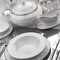 Kütahya Porselen Transparant Bone 12 Kişilik 85 Parça 15106 Desenli Yemek Takımı