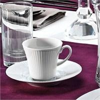 Kütahya Porselen Çisil 6 Kişilik Su Bardaklı Kahve Fincan Takımı