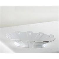 Kancaev Porselen Çıkıntılı Oval Servis Tabağı Küçük