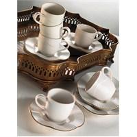 Kütahya Porselen Milena Krem 6 Kişilik Kahve Fincan Takımı