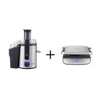 Vestel V-Brunch Serisi 3000 Dijital Inox Tost Makinesi + Vestel V-Brunch Serisi 2000 Inox Katı Meyve Sıkacağı
