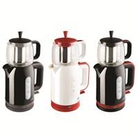 Blue House BH286TM Firuze Çay Makinesi Kırmızı- Beyaz