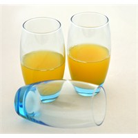 Paşabahçe Barrel Meşrubat Bardağı 3Lü Mavi