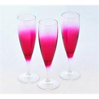 Paşabahçe Lyric Pembe Ayaklı Şampanya Bardağı 3Lü