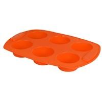 T-Design Silikon 6´Lı Muffın Tek Renk Oranj Sm02m042