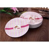 Gönül Porselen Makaron Desen Pasta Tabağı (6 Adet) G820