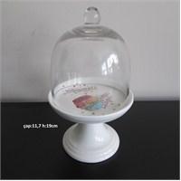 Gönül Porselen Makaron Desenli Mini Cupcake Fanusu G944