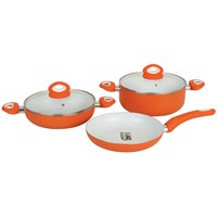 T-Design Orange Soft 5 Parça Tava Tencere Seti 24Cm Turuncu