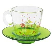Paşabahçe Workshop 6 Lı Çiçek Desenli Fincan Takımı