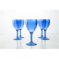 Plabar Kırılmaz Şarap Bardağı (Mavi) 6Lı
