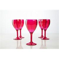Plabar Kırılmaz Şarap Bardağı (Pembe) 6Lı