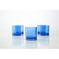 Plabar Kırılmaz Viski Bardağı (Mavi) 6Lı