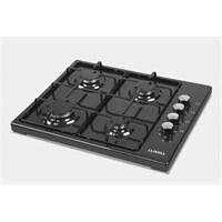 Luxell LX-420 F Siyah 4 Gözü Gazlı Setüstü Ocak-LPG