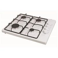 Kumtel KO420 F Beyaz 4 Gözü Gazlı Düğmeden Çakmaklı Setüstü Ocak-LPG