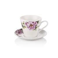 Noble Life Pembe Karanfil Kahve Fincan Seti 6 Kişilik - 15786