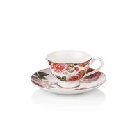 Noble Life Red Rose 6 Kişilik Kahve Fincanı Seti - 17353