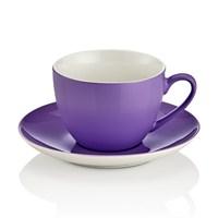 Noble Life Şeker 6 Kişilik Çay Fincan Takımı - Lila - 21466