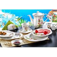 Noble Life Kamelya 38 Parça Porselen Kahvaltı Takımı - 16455